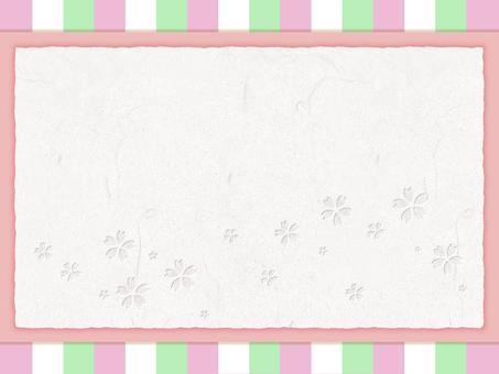 Spring color frame (cherry blossoms)