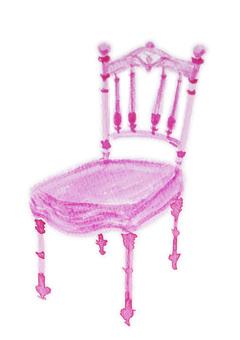 古色古香的粉紅色椅子