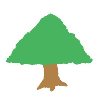 Handwritten style tree