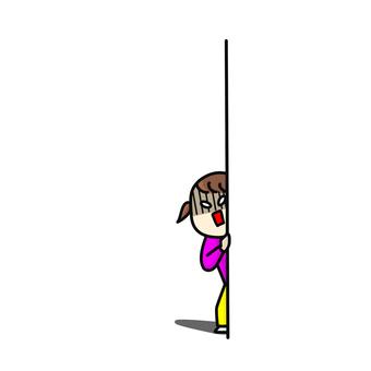 Child, peeping, shock