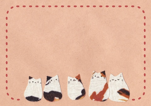 Cloth three-haired cat frame / red