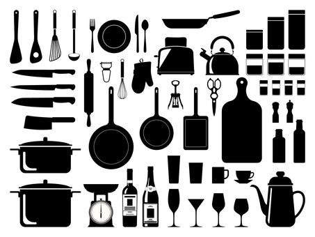 Kitchen appliances Silhouette