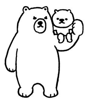 Shirokuma parent and child
