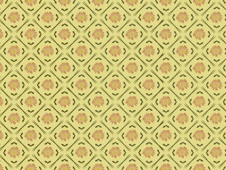Retro gerbera wallpaper light color