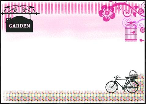 Bright garden card