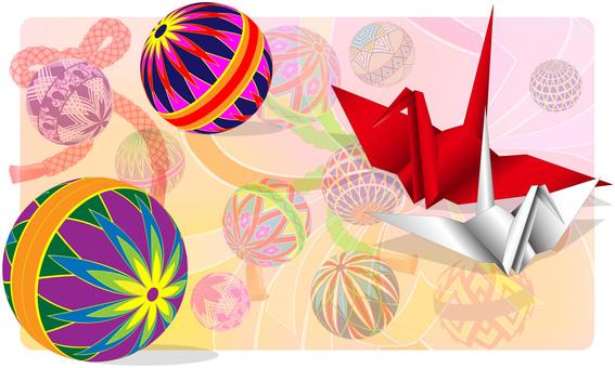 Temari and paper crane design