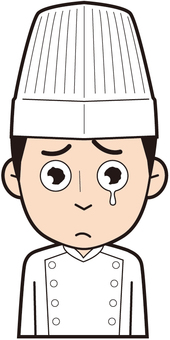 Male chef (crying)