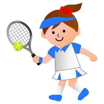 테니스 소녀