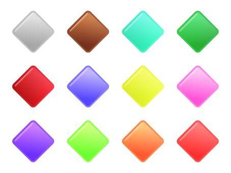 Aqua button (diamond)