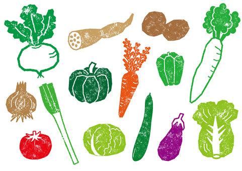 Hanko style vegetable set