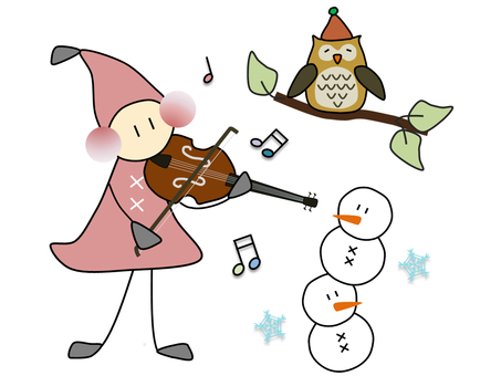 Dwarf _ winter _ violin