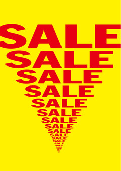 Sales increase! SALE poster (yellow)