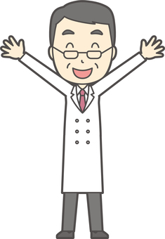 Middle-aged male physician -097 - full body