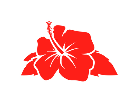 Hibiscus silhouette