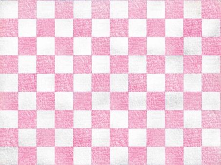 사각형 모양 카펫 화이트 핑크
