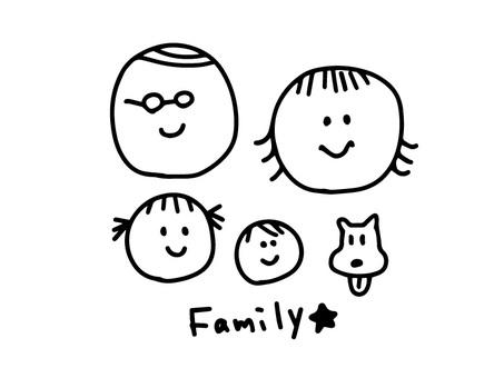 Postcard family