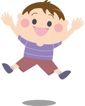 ジャンプする男の子3