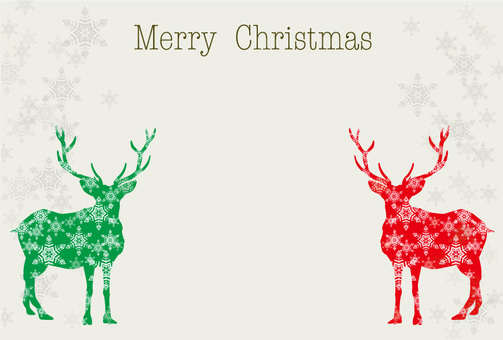 Reindeer's Christmas card 5