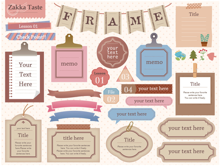 Miscellaneous goods taste frame set 01