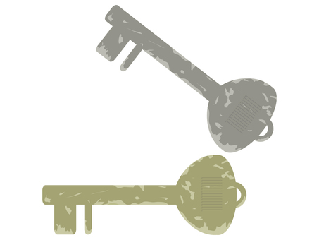 Cut gold key, silver key