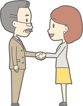 Handshake -02- whole body