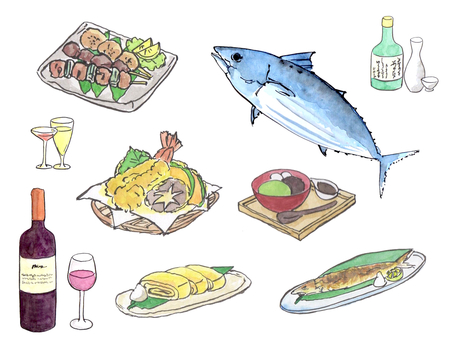 Illustration set of cooking (food / drink)
