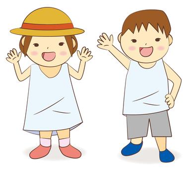 孩子們在暑假裡