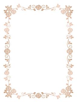 Rose frame (pink gold)