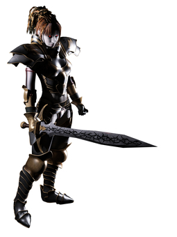 Demon female swordsman