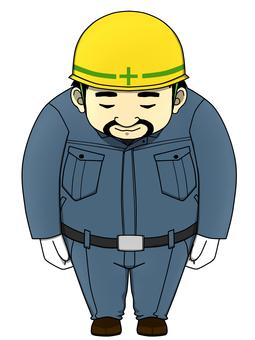 Worker male (dark blue)