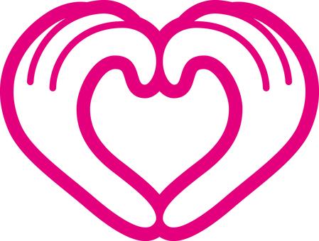 Heart _ hand _ pink