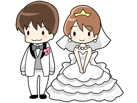 Bride and groom / wedding