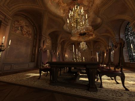 In the brilliant baroque room