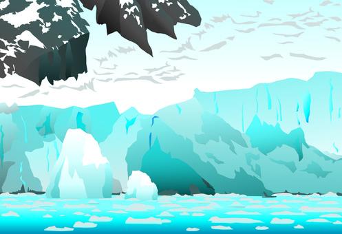 Global warming-the melting iceberg