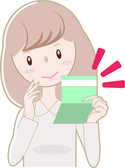 Savings passbook and female