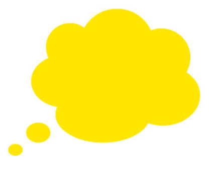 Speech bubble - yellow