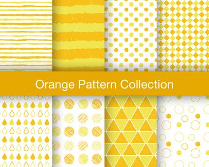 Seamless pattern set: Orange