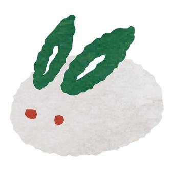 수채화 풍 · 눈 토끼