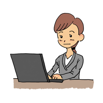 Business woman hitting personal computer