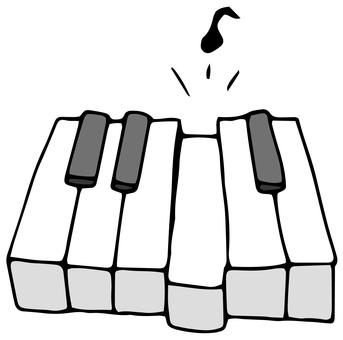 Keyboard piano sound