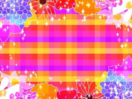 Flower check background