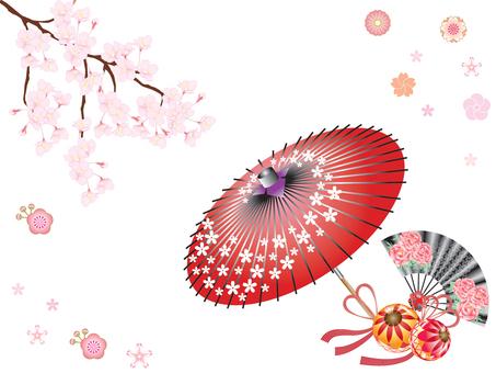 And umbrella _ 桜