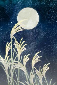 Moonlight background illustration ①