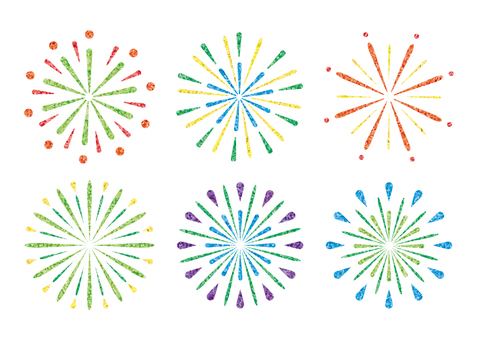 Fireworks (white background)
