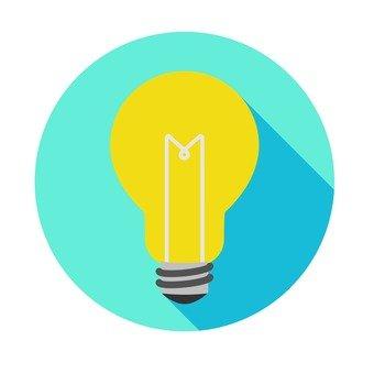 Flat icon - light bulb