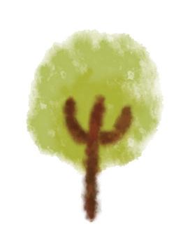 Tree - Watercolor Wind -