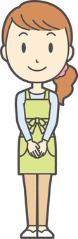 Apron youth long hair-269-whole body