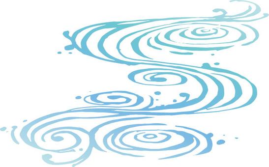 Flowing lines 3 (water)