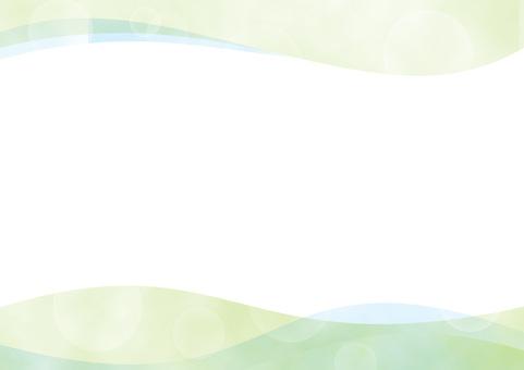 수채화 빛 웨이브 배경 녹색 / 그린