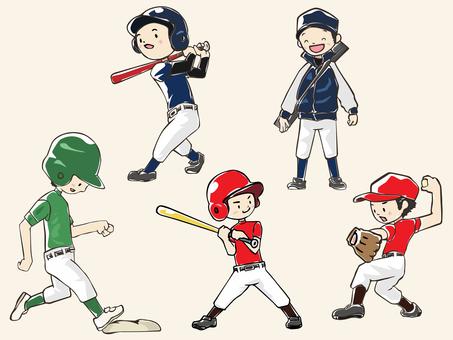 人物-男の子-野球